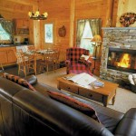 Rangeley Lake Resort Maine cabin interior